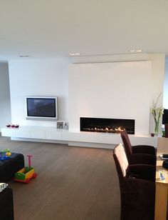 Fabulous Fireplace Will Make Your Home More Classy - The Urban Interior Home Fireplace, Fireplace Design, Home And Living, Living Room, Deco Design, Room Inspiration, Interior Architecture, Family Room, New Homes