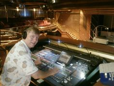 They let me work the soundboard on the @HALcruises #Maasdam