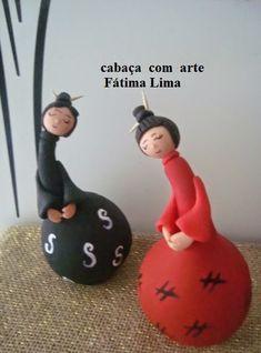 Cabaça com Arte: Bonecas Japinhas                              …