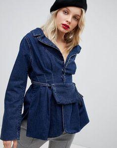 ASOS DESIGN – Jeansjacke mit Taschendetail