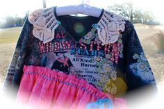 Gypsy Cowgirl Rodeo Queen Collage Dress Western BabyDoll Deconstructed Reconstructed Original Southern Rebel Belle Girls 12/14 by IzzyRoo on Etsy