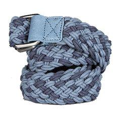WeSC Emmet Braided Belt in Midnight Blue accessoires riemen