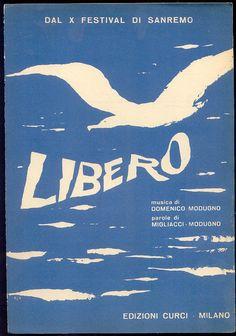 """""""Libero"""" spartito, Sanremo Festival 1960, Domenico Modugno"""