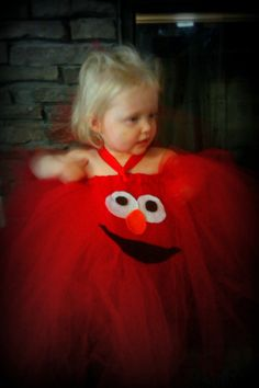 Sesame Street Elmo Halter Tutu Dress/  by pocketfulofposiesbou, $32.00