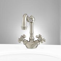 Wesley Single-Hole Bathroom Faucet - Pop-Up Drain - Overflow - Brushed Nickel