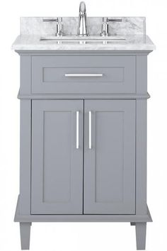 "Sonoma 24"" Single Vanity - Single Bath Vanity - Modern Bathroom Vanities - Modern Bathroom Vanity - Bath Vanity Cabinets - 24 Inch White Vanity 