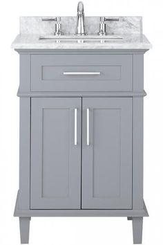 "Sonoma 24"" Single Vanity - Single Bath Vanity - Modern Bathroom Vanities - Modern Bathroom Vanity - Bath Vanity Cabinets - 24 Inch White Vanity | HomeDecorators.com"