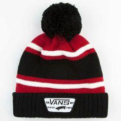 Red n black vans beanie cx