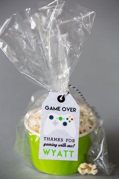 Video Game Favor Tags  Printable Video Game by PrintableStudio505