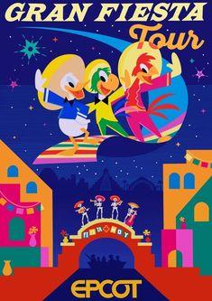 Epcot World Showcase - Gran Fiesta Tour Print, Epcot Poster, Epcot Print, Walt Disney World, Disney