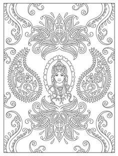 Magnificent Mehndi Designs Coloring Book, Dover Publications
