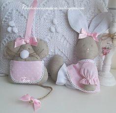 Telas botones y otras cositas Felt Crafts, Easter Crafts, Crafts For Kids, Diy Crafts, Sewing Toys, Sewing Crafts, Sewing Projects, Felt Material, Rabbit Toys