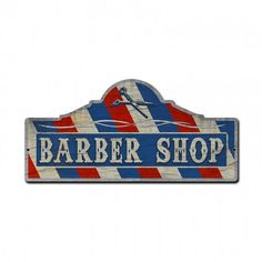 Barber Shop PRODUCT SPECIFICS: This Vintage Style Metal Sign measures 26 inches by 12 inches and weighs in at 3 lb(s). This Sign is hand made in the USA using heavy gauge American steel. DESCRIPTION: Hand Made in the United States using the highest quality materials and the most
