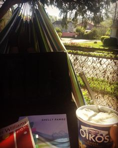 Let's be real. After getting home from a full day's work around four I did good research for about an hour before taking a long doze in the late afternoon sun #hammock #spring #icecream #tobeapartner #liveadventurously #stayandwander #forthesakeofthestory by mckenzi.jo