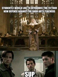 They are never going to need a new teacher again.   Dean- we are going to teach you how to die and come back from death    Harry- uh professor I have actually already done that before...   Dean- well I will teach you how to do it anyway... Then I will teach you about dodgeball.