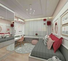 Teen Girl Bedrooms - incredibly super sweet teen girl room tips and tricks. Hungry for other inspiring teen room styling designs please visit the pin to study the post idea 2440572225 immediately Bedroom Decor For Teen Girls, Teenage Girl Bedrooms, Girl Bedroom Designs, Teen Bedroom Colors, Colorful Teen Bedrooms, Girl Rooms, Bedroom Themes, Girs Bedroom Ideas, Design Bedroom