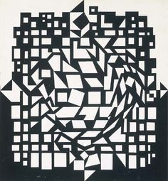 Citra 1, Oil by Victor Vasarely (1906-1997, Hungary)