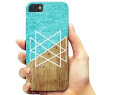 Blue Knit Geometric Wood iPhone 7 case, iPhone 6 6s Plus case, iPhone 6 6s case,  Samsung Galaxy s7 case, Samsung s6 case, Note 5 case