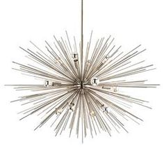 Zaza Modern Silver Burst Sputnik Chandelier - 33D | Kathy Kuo Home