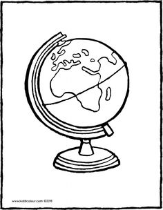 the world is in the shape of a globe. a globe with lots of water and many different countries. use your favourite colours to colour in this picture. put the picture in your neighbour's letterbox. Coloring Books, Coloring Pages, Bold Colors, Colours, Ice Cream Van, Pictures To Draw, Spring Colors, Craft Activities, Favorite Color