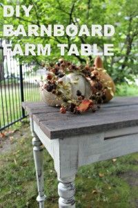 Turn an old discarded table base and some barn board left over from another project and make this farm table in less than an hour.