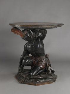A Rare Venetian Polychrome and Ebonised Blackamoor Gueridon. Italy, Circa 1870. - Adrian Alan