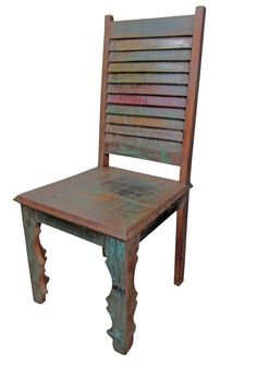 Mexicali Rustic Wood Chair | Solid recycled wooden chair | furniture online