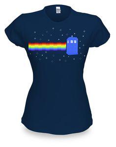ThinkGeek :: Nyan Cat TARDIS Babydoll