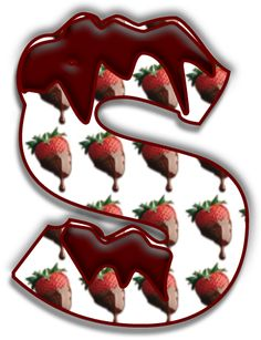 Alfabeto de fresas con chocolate.   Oh my Alfabetos!