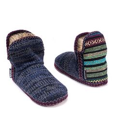 Love this Dark Blue Amira Slipper Boot - Women on #zulily! #zulilyfinds