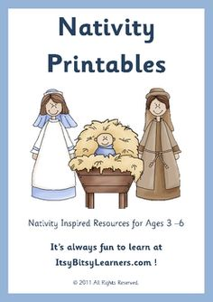 Christmas Nativity Math / Literacy Preschool Pack