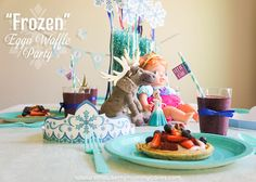 """FROZEN"" Eggo Waffle Party with FREE Printables!"