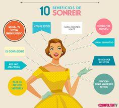 ¡10 beneficios de sonreir!