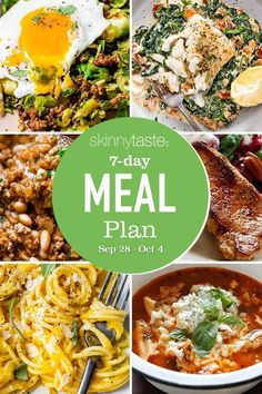 A free 7-day, flexible weight loss meal plan including breakfast, lunch and dinner and a shopping list. All recipes include calories and updated WW Smart Points. 7-Day Healthy Meal Plan Skinnytaste- Meal Prep cookbook was #2 on the New York Times bestseller list on it's first week out!!!!!!I have cried happy tears this week, I […] The post 7 Day Healthy Meal Plan (Sept 28-Oct 4) appeared first on Skinnytaste.