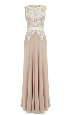 Dresses | Cream Cutwork and bead maxi dress | KarenMillen Stores Limited