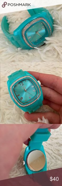 ✨TKO Orlogi Rubber Watch✨NWOT Never Worn (or started) Teal Watch. The face is surrounded with genuine Swarovski crystals! ✨Overstock is selling this same watch for well over $100 ✨  (Aqua, Turquoise, Blue) TKO Accessories Watches