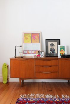 Sydney apartment of Gemma Cagnacci and Andrew Meehan from The Design Files via Simply Grove Decor, House Design, Interior, Home, Home Furniture, Mid Century Modern Furniture, Danish Modern Credenza, Home Remodeling, House Interior