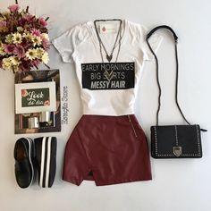 Tem novidades meninas!!   T-Shirt Hair | Saia Ana Júlia   Compras on line:  www.estacaodamodastore.com.br
