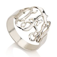 monogram ring - what a lovely gift idea $40.00