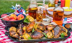 Home & Family Memorial Day Recipes | Hallmark Channel//Cristina's Peach Tea-Brined Chicken with Bourbon-Peach BBQ Sauce