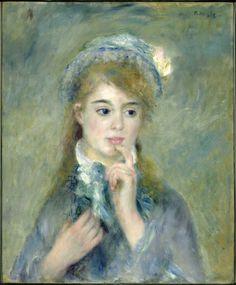 Pierre-Auguste Renoir (1841-1919) Portrait of a Young Woman (L'Ingenue), 1874