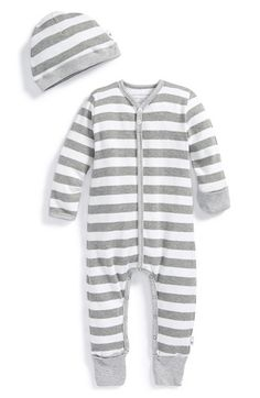 BURT'S BEES BABY Organic Cotton Romper & Hat (Baby) available at #Nordstrom