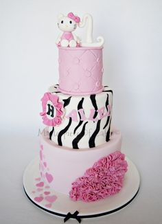 elegant and sophisticated Hello Kitty Cake