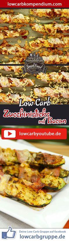 Low-Carb Zucchinisticks mit Bacon - herzhaft-würziger Snack & Fingerfood.   Ein weiteres richtig leckeres Low-Carb Fingerfood steht heute für dich auf dem Plan :) DieseZucchinisticks sind mit Bacon umwickelt, mit geriebenen Käse bestreut und im Ofen herrlich goldbraun gebacken. Besser geht es doch schon fast nicht mehr, oder?    Die Low-Carb Zucchinisticks mit Bacon sind wunderbar herzhaft-würzig, toll als Snack oder auf dem Party-Büffet. Wer möchte, kann die natürlich auch als…