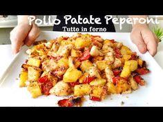 PETTO DI POLLO CON PATATE E PEPERONI tutto in forno RICETTA LEGGERA 🍗 - YouTube Food To Make, Chicken Recipes, The Creator, Dinner, Ethnic Recipes, Sweet, Estate, Simple, Italian Recipes