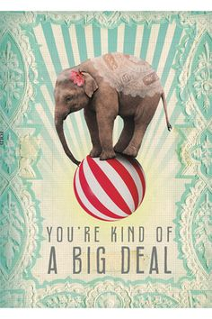 Big Deal Greeting Card, great to print for Project Life!