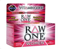 RAWSOME! YOU KNOW YOU NEED IT! Vitamin Code® RAW ONE™ for Women