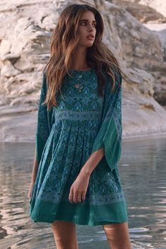 Zoi Mantzakanis wears Spell Designs Jewel Tunic Dress