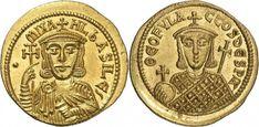 "Byzantine Empire AV Solidus ND 811-13AD Constantinople Mint Michael I ""The Drunkard"" 811-13AD"