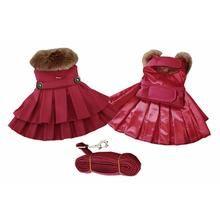 Burgundy Wool Dog Harness Coat by Doggie Design
